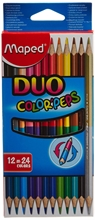 Crayons de couleur COLOR'PEPS DUO, étui de 12