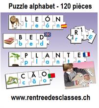 Puzzle alphabet - 120 pièces - Formation des mots