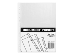 Bte de 100 poches A4 Durable - polypropylène 0.5mm