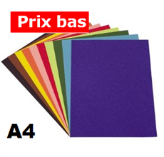 Pqt de 100 flles papier à dessin couleur A4 130gm2 - Heyda