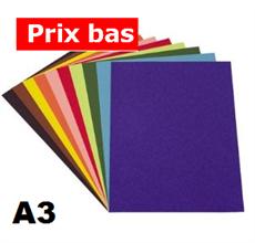 Pqt de 100 flles papier à dessin couleur A3 130gm2 - Heyda