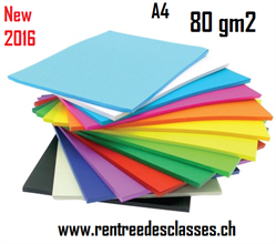Pqt de 500 flles papier photocopie A4 80gm2 Vivid - 17 couleurs assorties