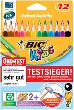 Etui de 12 crayons de couleur BIC Triangle Evolution