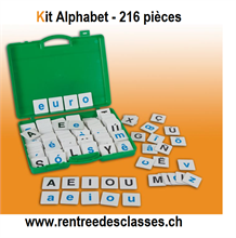 Kit alphabet - 216 lettres