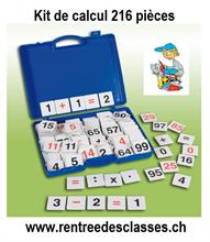 Kit de calcul - 216 pièces - Rentrée des classes