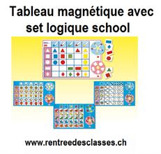 Tableau magnétique avec logic school - Rentrée des classes