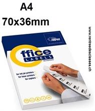 Bte de 2400 étiquettes autocollantes de 70x36mm