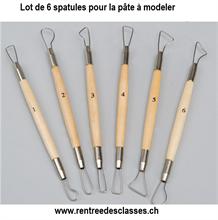 Pack de 6 mirettes 15cm - manche en bois