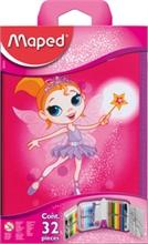 Maped Trousse Fairy, en polyester, rose, équipé