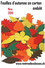 Pqt de 120 feuilles d'automne ondulées