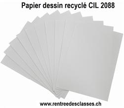 Pqt de 500 flles papier à dessin A4 CIL recyclé 2088