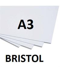 Pqt de 250 flles cartons bristol A3 BLANC 240gm2
