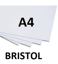 Cartons bristol A4 blanc