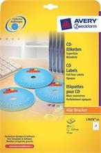 Pqt de 50 etiquettes pour CD blanches Zweckform