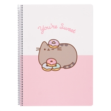 Carnet polypropylene A4 4x4, PUSHEEN ROSE