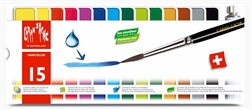 Boîte de gouache Caran d'Ache Fancolor 15 couleurs