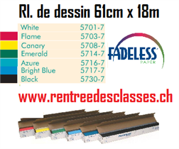 Rl. papier dessin Fadeless 85mg2 - 609mm x 18m