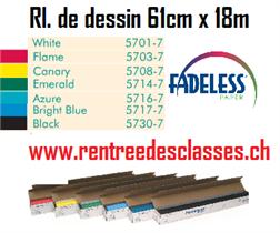 Rl. papier dessin Fadeless 85mg2 - 609mm x 18m