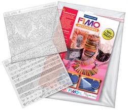 """Kit FIMO de feuilles de structure """"Crocodile - et Cuir de veau"""""""