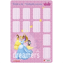 Fiche éducative Multiplication, PRINCESSES