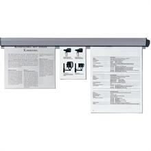 Rail de serrage pour papier plastique blanc