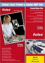 Pqt de 100 films pour imprimantes et copieurs laser couleur Folex BG-72