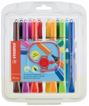 Etui de 12 stylos fibres STABILO CAPPI
