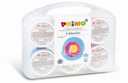 Peinture aux doigts Primo 6x100g couleurs standards