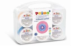 Peinture aux doigts Primo 6x100g couleurs perlées