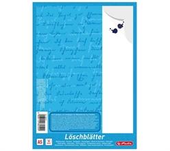 Bloc de papier buvard Herlitz au format A4, 80 g/m2, blanc