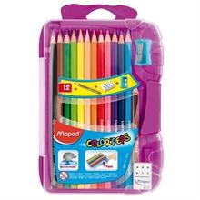 Boîte de 12 crayons de couleur + accessoires