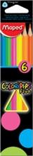Etui de 6 crayons de couleur COLOR'PEPS Fluo