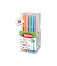 Pot scolaire de 36 feutres colorito Pastel