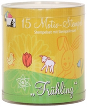 Kit de 15 tampons à motifs printemps